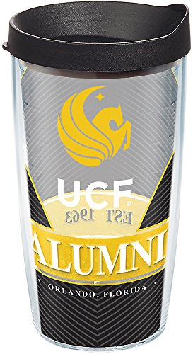 - Tervis 1283463 UCF Knights Alumni Tumbler with Wrap and Black Lid 16oz, Clear