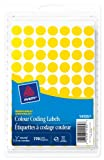 """Avery Removable Colour Coding Labels, Handwrite,  1/2"""", Yellow, Round, 770 Labels, Removable (14105)"""