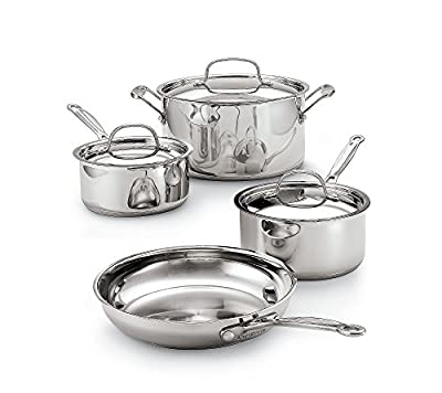 Cuisinart Chef's Classic Stainless Steel 7-Piece Cookware Set