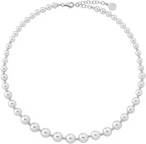 Majorica Collar de Plata de Ley 925 con Perla