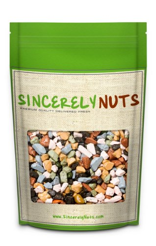 Sincerely Nuts Milk Chocolate Rocks - One (1) Lb. Bag - Beautiful Design - Beyond Scrumptious - Sealed for Freshness