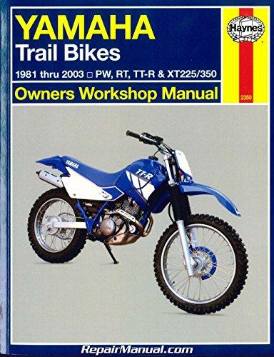 - H2350 Haynes Yamaha Trail Bikes 1981-2003 Repair Manual