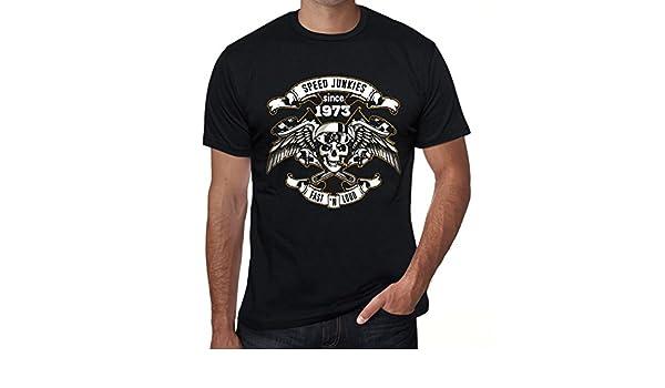 Speed Junkies Since 1973 Hombre Camiseta Negro Regalo De ...