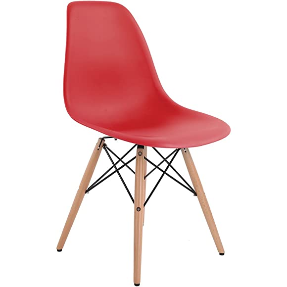 Bentley Home Retro Eames Style 'Eiffel' DSW Chair - Red