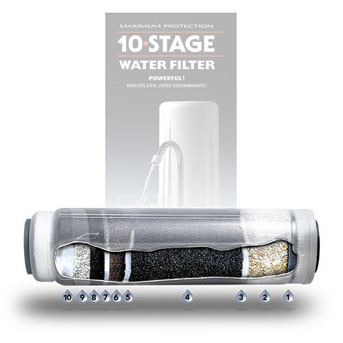 New Wave Enviro Products - 10 Stage Countertop Water Filter System Replacement Cartridge - 1 Filter(s) (New 10 Stage Wave)