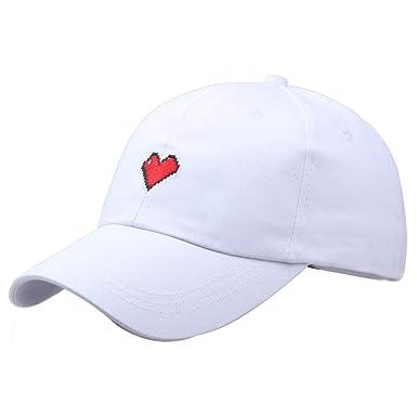 Gorra de béisbol para Mujer, Mujer Chica Simple Gorra Dulce Hip Hop Gorra Bordada Amor