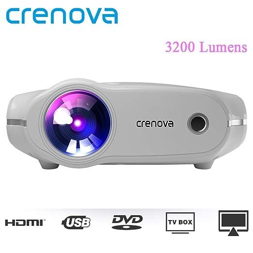 Crenova® XPE498 - Proyector portátil para HD 4 Quilates (2 ...