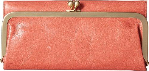 [Hobo International Womens Rachel Vintage Wallet Leather Clutch Purse (Coral)] (Hobo Purses)