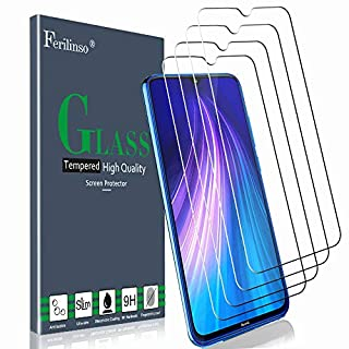 Ferilinso [4 Pack] Screen Protector for Xiaomi Redmi Note 8, Redmi Note 7, Redmi 7, Tempered Glass