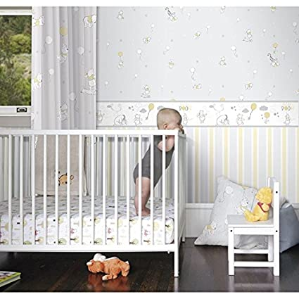 Paper Wallpaper Bedrooms Disney Winnie The Pooh Washable