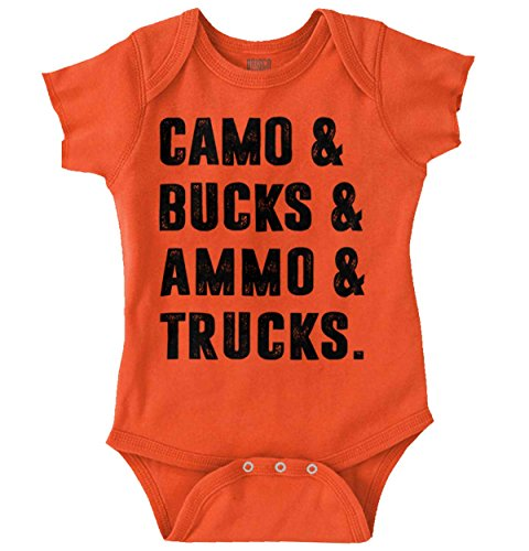 Camo Bucks Ammo and Trucks Southern Hunter Romper Bodysuit