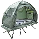 Outsunny 4-in-1 Multi-Functional Outdoor Compact Folding Shelter Tent Hiking Camping Bed Cot Combo