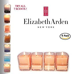 Elizabeth Arden Grapefruit Ginger Votive Candle 4-pack of Scented Soy Candles | Clean Burning | Great for Weddings, Parties, Baby Showers | Made in the USA
