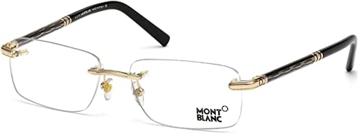 men GOLD BLACK Mont Blanc 030 B 58//17//145 MB0487 Geometric metal