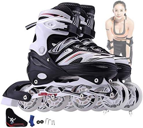 子供、男の子、女の子のためのライトアップホイールの始まりのローラー楽しい点滅照明ローラースケートで調整可能なインラインスケート