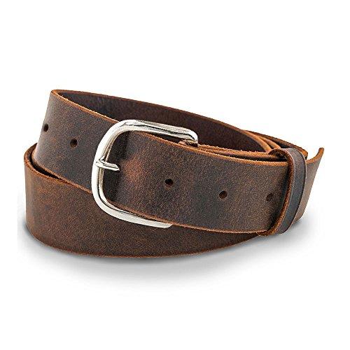 Hanks Jean Belt - 1.5' Men's Leather Belt - USA Made, 100-Year Warranty