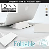 Foldable Laptop Stand (ECO White) IDEA 2017 Finalist Ultralight (15g) Ultra Thin (0.8mm) Portable Origami, Comp. for All Mac, Reduces Back, Shoulder, Wrist Pain, Dissipates Heat, Made In Japan
