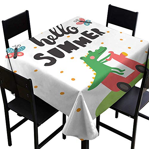 Croco Overlay - Warm Family Washable Table Cloth Summer Croco Great for Buffet Table W36 x L36