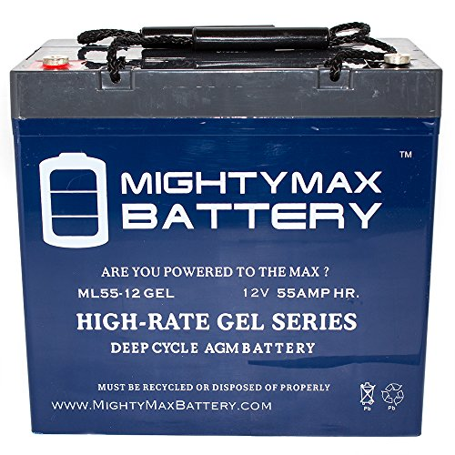 12V 55AH GEL Battery for John Deere 3120, 3320 Utility Tractor - Mighty Max Battery brand product