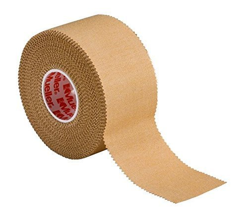 """Mueller P Tape- Beige Strapping Tape- 1.5""""x 15 yard rolls- Strong, Porous, Adhesive Corrective Tape with Serrated Edges by Mueller"""