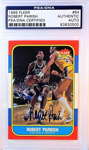 Robert Parrish Signed 1986 FLEER Card 83830500 - PSA/DNA Certified - Basketball Autographed Cards ()