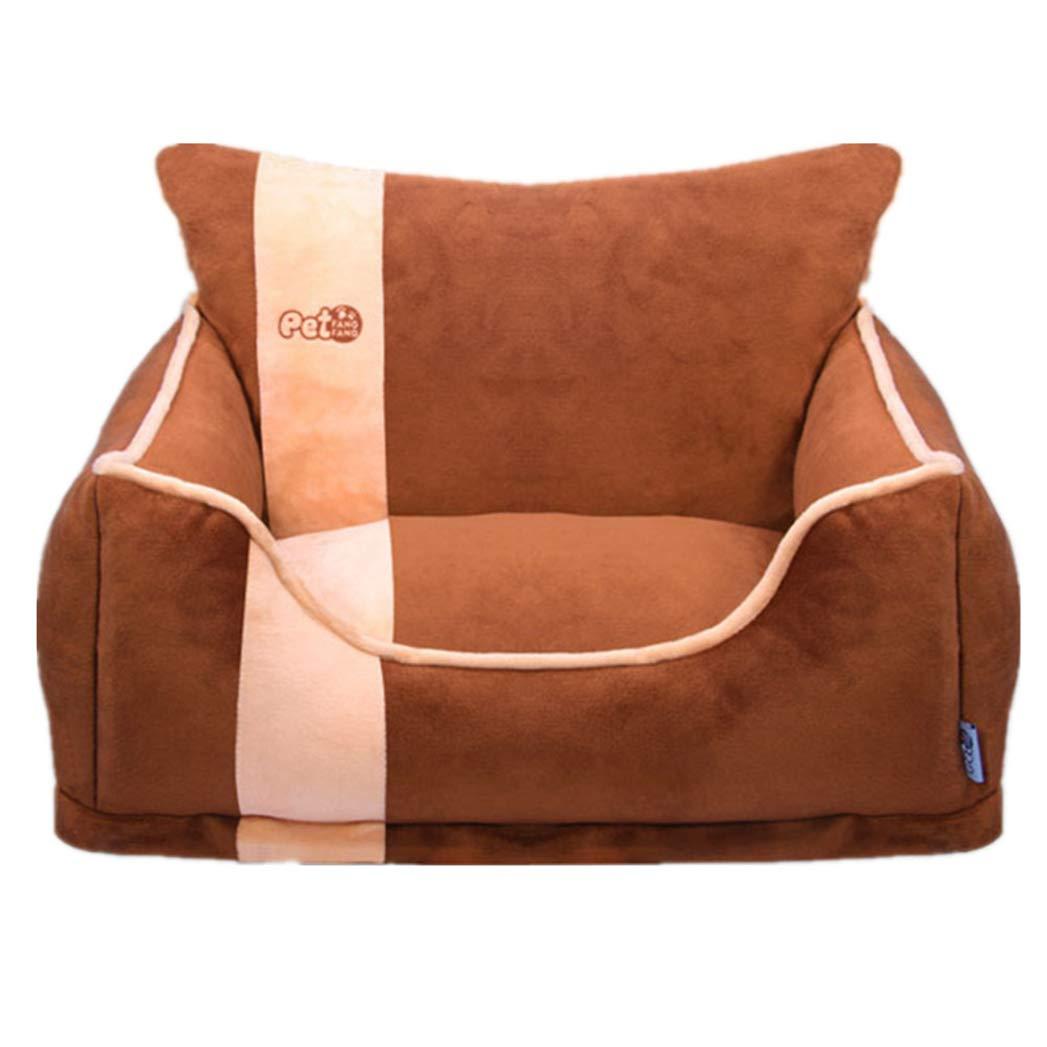 BROWN M BROWN M SENERY Detachable Pet Dog Cat Soft,Winter Warming Soft Pet Cat Dog Bed Mats Kennels House