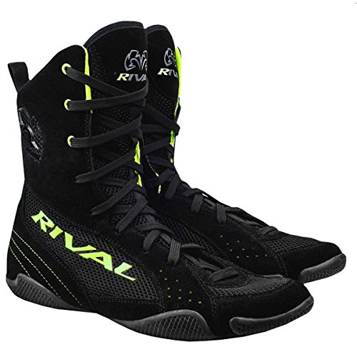 (RIVAL BOXING BOOTS-RSX ONE-HIGH TOPS (LIME, 14) )