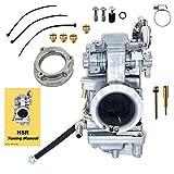 Polished Smoothbore Carburetor HSR45 45mm Carb HD