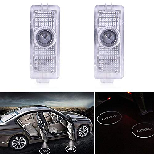 Younar 2PCS Car Door LED Logo Welcome Courtesy Light Projector Wireless Laser HD Shadow Entry Warning Lamps for Mercedes CLS CLA C-Class Coupe 15-18