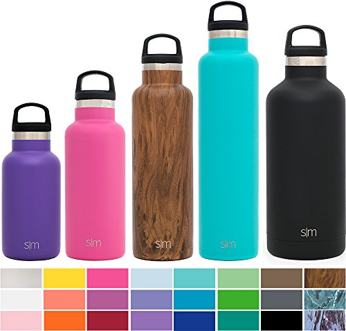 Simple Modern 12oz Ascent Kid's Water Bottle - Vacuum Sealed Narrow Mouth Leak Proof 18/8 Stainless Steel Purple Swell Flask - Double Walled Hydro Travel Mug - (12 Ounce Bottle Water)
