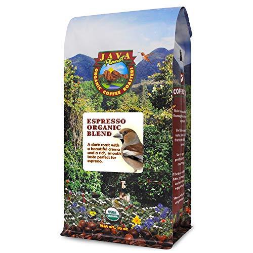 Java Planet - Espresso Coffee Beans, Organic Coffee, Dark Roast Arabica Gourmet Specialty Grade A, packaged in 1 LB bag