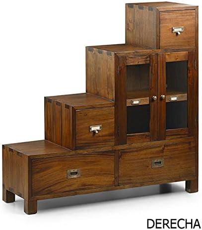 MOYCOR Muebles Escalera Estilo Colonial : Colección Flamingo Derecha de 100x100x32cms.: Amazon.es: Hogar