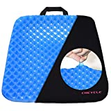 Gel Sitter Seat Cushion Breathable Egg Crate Honeycomb Design, Portable Seat Cushion for The Car, Office, Home Chair or Wheelchair - Can Help in Relieving Back Pain & Sciatica Pain Pressure Sore Relief. Ultimate Gel Comfort, Prevents Sweaty Bottom, Durable, Portable