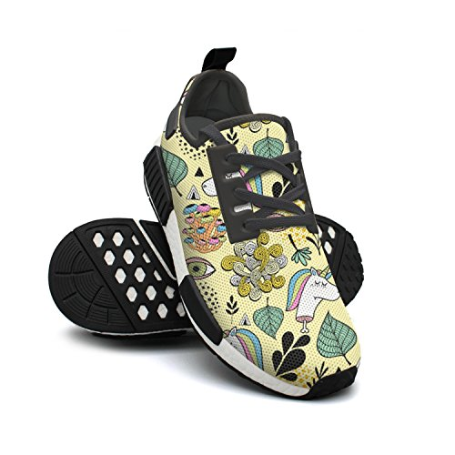 Dead Eyes Yellow Shoe Womens Human Sport Colorful Unicorn Running NMD 1xUBq