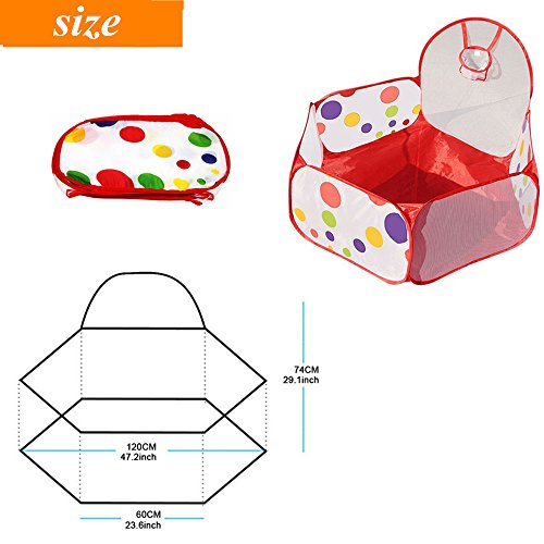iBayam Toy Play Tent 47 inches Foldable Baby Ball Pit Kids P