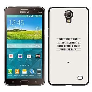 """Pulsar Snap-on Series Teléfono Carcasa Funda Case Caso para Samsung Galaxy Mega 2 , Platón Amor Cita inspirada del texto"""""""