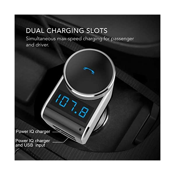 IPS Bluetooth Location Fast Charger FM Transmitter Wireless Radio Adapter Car Kit With 5V 21A USB Smart App MP3 Player Parked Car Finder Seasons Gifts Built In Microphone Hands Free Call