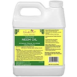 Organic Verdana Cold Pressed Neem Oil - 16 Fluid Ounce – Un-refined, Filtered - High Azadirachtin content - For Indoor and Outdoor Plant Spray - Plant Care, Pet care, Skin Care, Hair Care