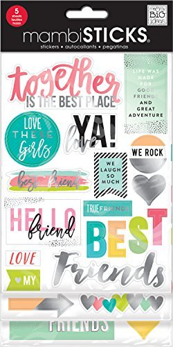 (mambiSTICKS Friends Love these Girls Stickers, 5 Sheets)