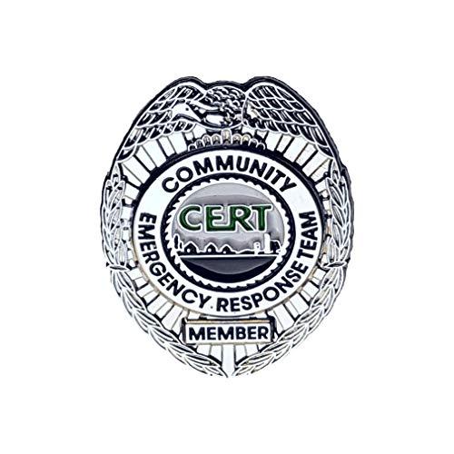 911 Market CERT Lapel Pin Community Emergency Response Team Silver Badge US FEMA - A 05