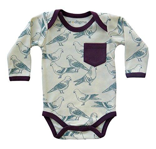 Cat & Dogma Organic Unisex Long Sleeve Bodysuit - Birds (12-18 Months)