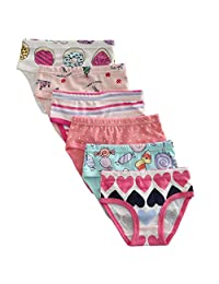 Benetia Little Girls Soft Cotton Panties 6-Pack