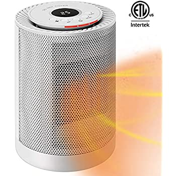 VIVOHOME 1200W 3 Modes Ceramic Space Heater Fan with Thermostat and Auto Oscillating, Overheat Protection and Tip-Over Protection, ETL Listed, White