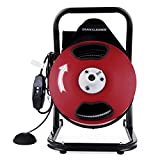 "OrangeA Sewer Snake Drill Drain Auger Cleaner 50FT Long 1/2'' Wide Electric Drain Cleaning Machine 4 Cutter & Foot Switch Drain Cleaner Drum Auger Snake for 2"" to 4"" Pipes (HX-68284)"