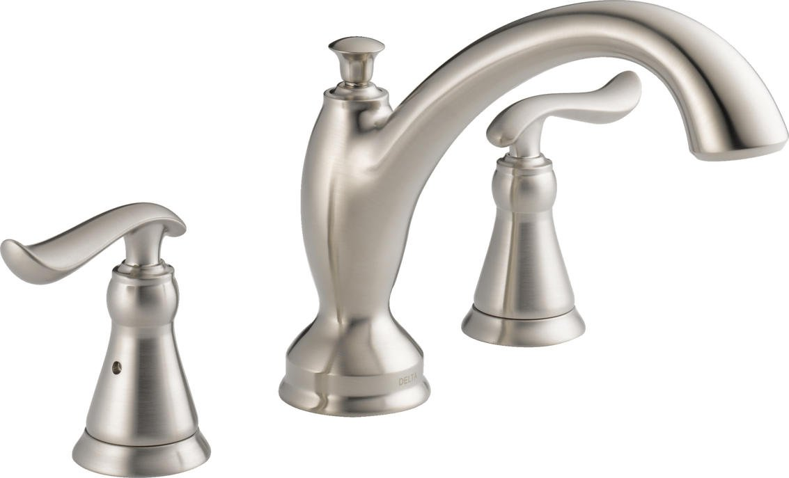 replace roman tub faucet. Delta T2794 SS Linden Roman Tub Trim  Stainless Faucet Kits Amazon com