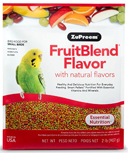 ZUPREEM 230301 Fruitblend Small Keet Food, 2-Pound (Flavor Fruit Zupreem Blend)