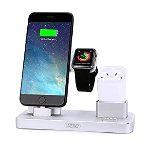 ipad iphone charging station airpods charger stand wero iwatch charging 6277