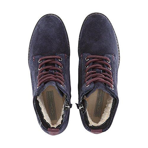 Cox Damen Schnür-Boots blau-dunkel