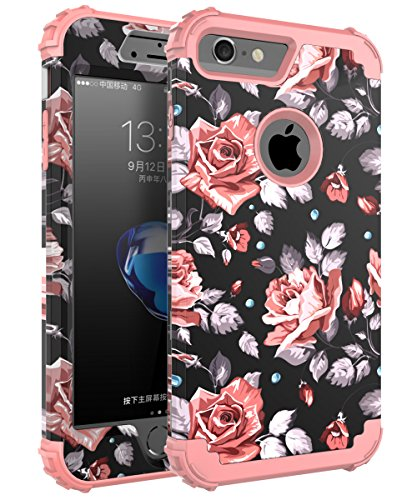 OBBCase iPhone 7 Case, [Heavy Duty] Three Layer Hybrid Sturdy Armor High Impact Resistant Protective Cover Case For Apple iPhone...  iphone 7 cases for women | Top 10 iPhone 7 Cases! (Cute Edition for Girls)! 51DqhxBV5ML