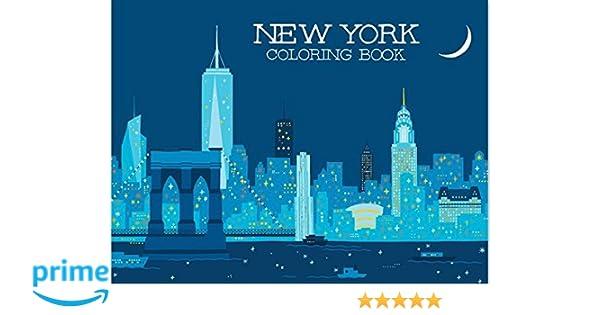New York Coloring Book Gloria Fowler Min Heo 9781623260514 Amazon Books